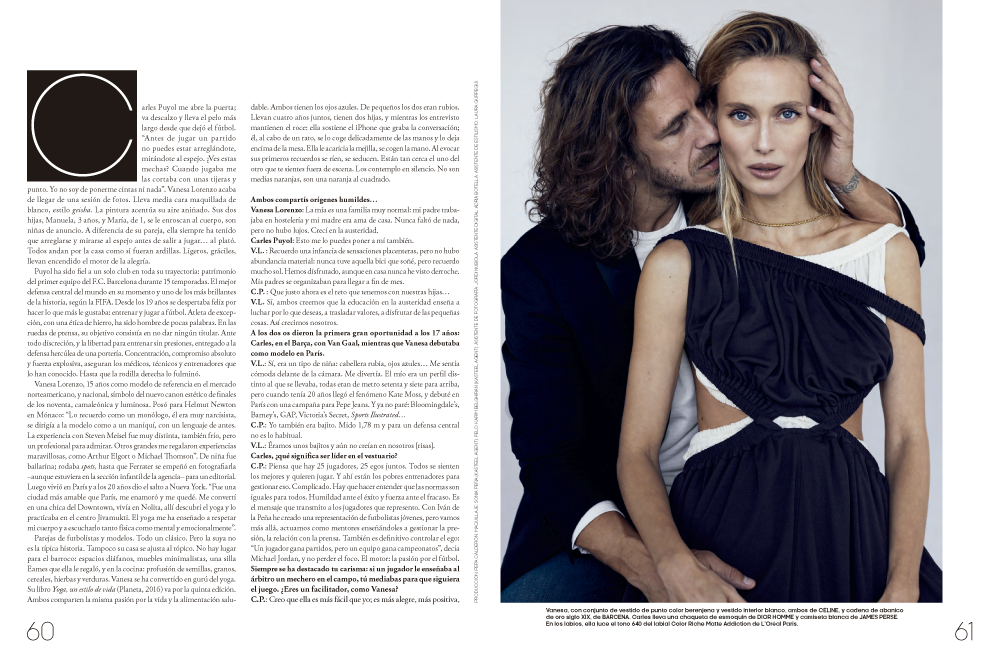 Vanesa Lorenzo and Carles Puyol, skin of love | Vanesa Lorenzo